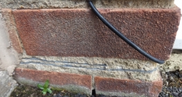 This is an example of a double slate damp proof course.